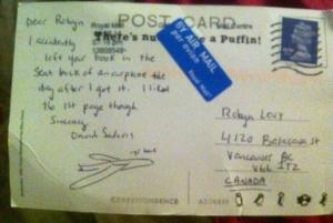 David Sedaris Postcard